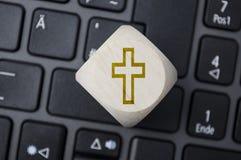 Ultima eredità di Digital di volontà con i cubi sulla tastiera fotografia stock