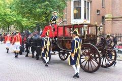 Ultima girata verso il palazzo della regina Beatrix immagini stock libere da diritti