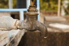 Ultima goccia di acqua Fotografia Stock