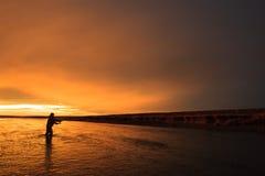 Ultima luce nella Patagonia Fotografie Stock Libere da Diritti