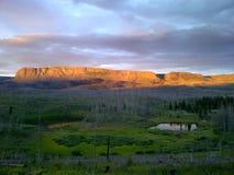 Ultima luce nelle montagne Fotografia Stock Libera da Diritti