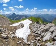 Ultima neve nelle alpi di Allgau Fotografia Stock Libera da Diritti