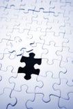 Ultima parte del puzzle di puzzle Fotografia Stock Libera da Diritti