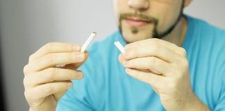 Ultima sigaretta Fotografia Stock