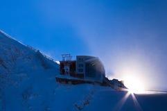 Ultima stazione alla cima del ghiacciaio di Kaprun in alpi austriache Immagine Stock Libera da Diritti