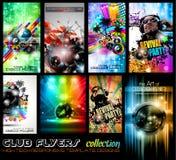 Ultimat samling för klubbareklamblad - highquality Arkivbild