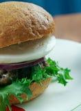 Ultimata grekiska hamburgare Arkivbilder