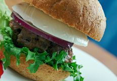 Ultimata grekiska hamburgare Arkivfoto