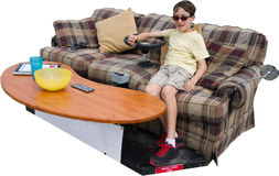 Ultimate Couch Potato Isolated Stock Photo
