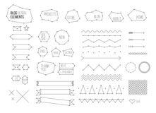 Ultimate design elements blog kit. Royalty Free Stock Photos