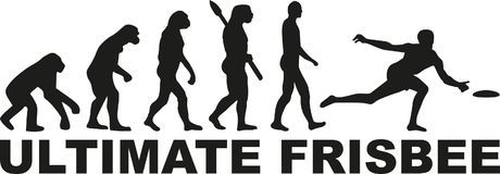 Ultimate frisbee evolution. Recreation vector Royalty Free Stock Photo