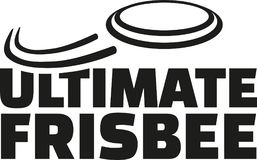 Ultimate frisbee with flying frisbee. Vector Royalty Free Stock Images