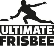 Ultimate frisbee player. Sports vector Royalty Free Stock Photo