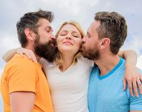 Ultimate guide avoiding friend zone. Everything you should know avoid friend zone start dating. She likes male attention. Girl hugs with two guys. Friendly royalty free stock images