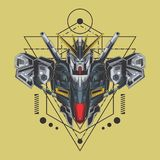 ultimate gundam fighter sacred geometry royalty free illustration