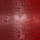 Ultimate heart maze. 3D render of giant maze with heart in center Royalty Free Stock Images