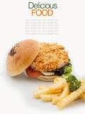 The ultimate homemade fish burger. Royalty Free Stock Photo