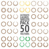 Ultimate Laurel Wreath Pack 50 Vectors. Ultimate Laurel Wreath 50 Vectors Pack Royalty Free Stock Images