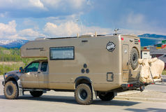 the ultimate off-road camper parked at whitehorse royalty free stock photo