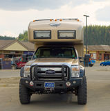 The ultimate off-road motor-home at whitehorse Royalty Free Stock Photography