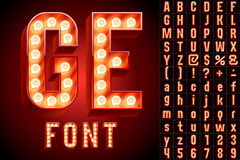 Ultimate realistic lamp board alphabet Royalty Free Stock Photos
