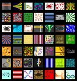 The Ultimate Retro Pattern Background Set vector illustration