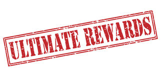 Ultimate rewards red stamp Royalty Free Stock Photos