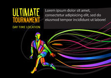 Ultimate sport invitation poster or flyer background with empty space, banner template Stock Photography