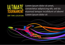 Ultimate sport invitation poster or flyer background with empty space, banner template Stock Image