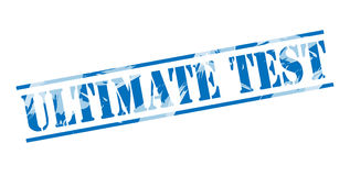 Ultimate test blue stamp Royalty Free Stock Images