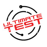 Ultimate Test rubber stamp Stock Photos