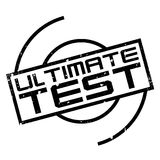 Ultimate Test rubber stamp Stock Photography