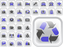 Ultimate vector icon or button pack Stock Image