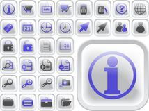 Ultimate vector icon or button pack Stock Images