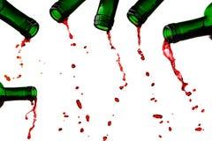 Ultime gocce del vino rosso Fotografie Stock