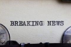 Ultime notizie Immagine Stock