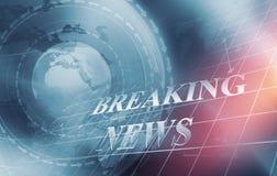 Ultime notizie economiche globali con il grafico analitico in Backgrou Immagini Stock Libere da Diritti