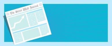 Ultime notizie! Illustrazione della pagina del giornale di vettore prima Immagine Stock Libera da Diritti