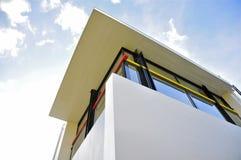 Ultimi piani della Camera di Rietveld Schröder 1923-1924) (, finestra d'angolo chiusa Immagine Stock Libera da Diritti