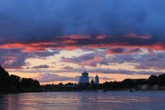 Ultimi secondi del tramonto Fotografia Stock Libera da Diritti