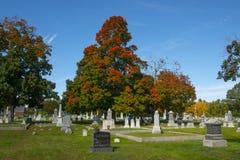 Ultimo cimitero di resto in Merrimack, NH, U.S.A. immagini stock