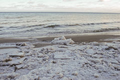 Ultimo ghiaccio sul Mar Baltico, Lettonia Fotografia Stock