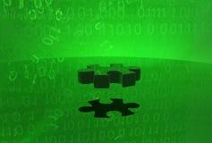 Ultimo pezzo virtuale di puzzle Fotografie Stock Libere da Diritti