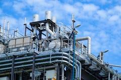 Ultimo piano della caldaia o HRSG della centrale elettrica del ciclo dell'associazione Immagine Stock