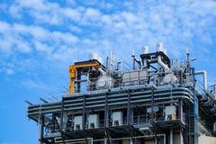 Ultimo piano della caldaia o HRSG della centrale elettrica del ciclo dell'associazione Fotografia Stock