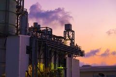 Ultimo piano della caldaia o HRSG della centrale elettrica del ciclo dell'associazione Immagine Stock Libera da Diritti