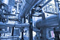 Ultimo piano della caldaia o HRSG della centrale elettrica del ciclo dell'associazione Fotografie Stock