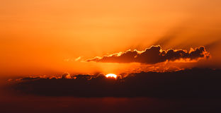 Ultimo tramonto 2015 Immagini Stock
