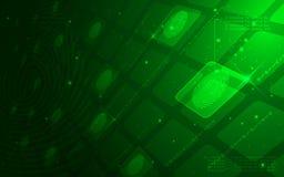Ultra abstrakt Sci Fi överkant för HD - hemlig mänsklig fingeravtrycktapet Arkivfoto