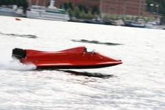Ultra acceleri la barca Immagini Stock